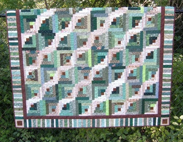 Treadle Quilts Curved Log Cabin Quilt Ufo Finished