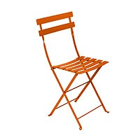 chaise pliante orange