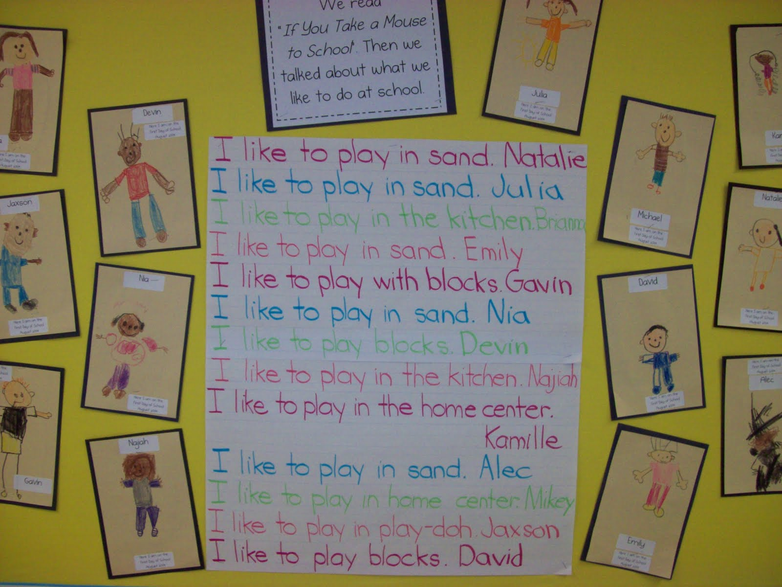 Kinder Garden: Chalk Talk: A Kindergarten Blog: Back To School Ideas