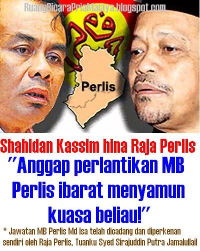 Hasil carian imej untuk Foto Shahidan Kasim hina sultan perlis