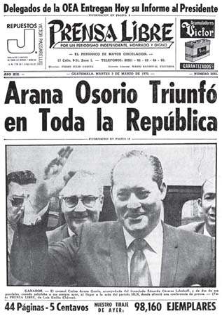 Resultado de imagen de Carlos Manuel Arana Osorio