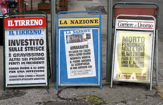 Billboards, newspapers, dailies, Livorno