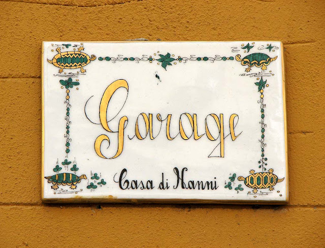 Plaque outside a house, Livorno