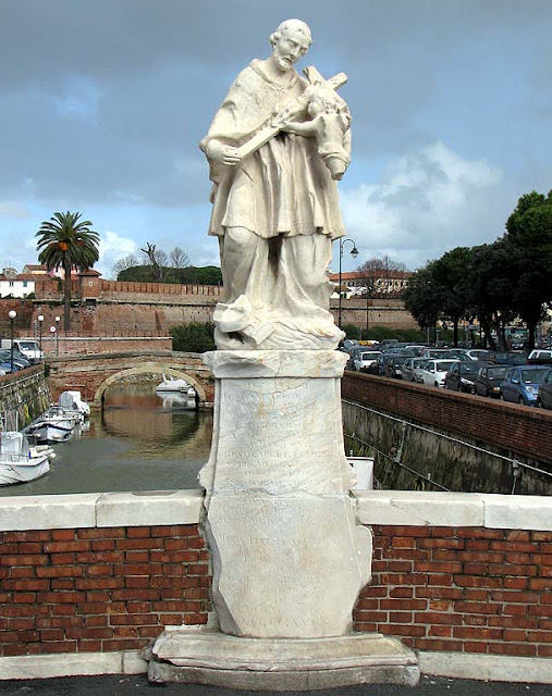 St John of Nepomuk, statue, bridge, Livorno