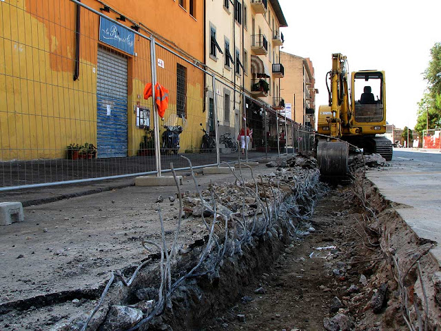 Works for a new canal, Venezia quarter, Livorno