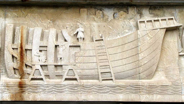 Bas-relief with the story of Livorno, Palazzo del Governo, Livorno