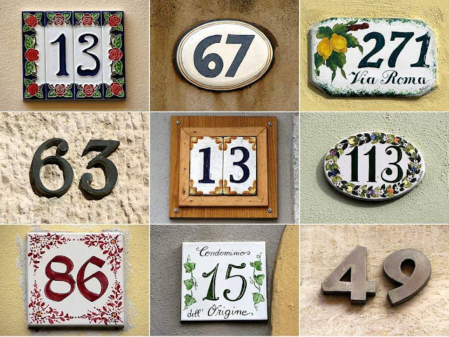 Picturesque house numbers compilation, Livorno