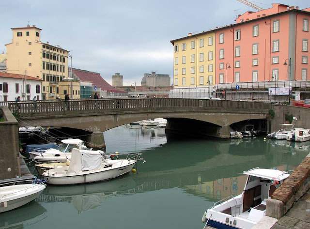 Ponte della Venezia, Bridge of the Venice quarter, Livorno