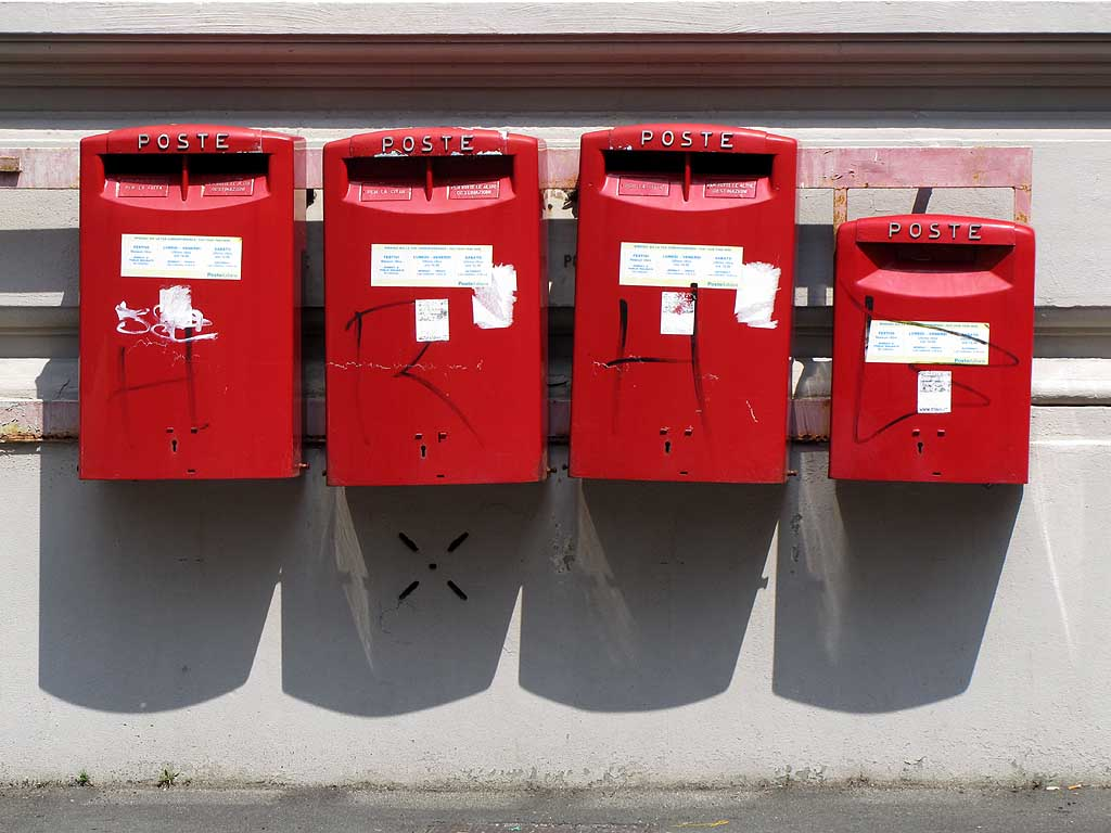 Red mailboxes, Livorno
