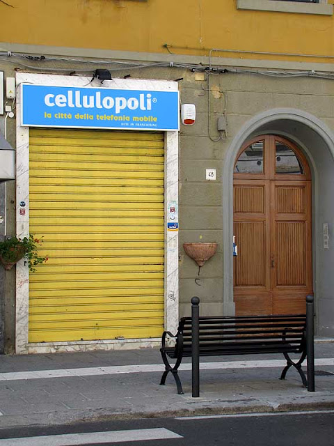 Cellulopoli, the city of mobile telephony, via Magenta, Livorno