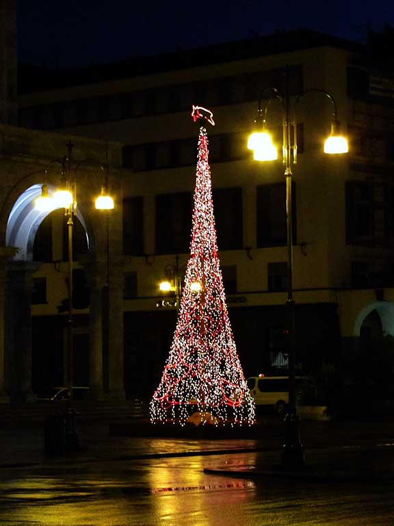 Christmas tree, piazza Grande, Livorno