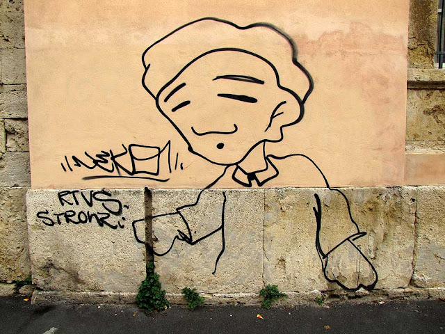 Graffiti, via Galilei, Livorno