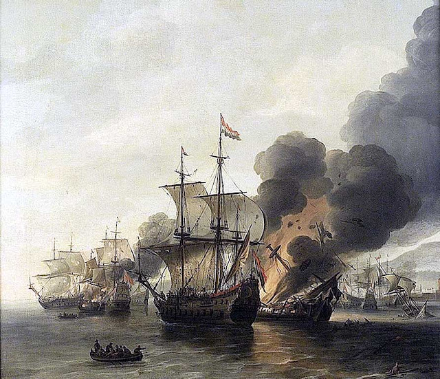 The Battle of Livorno (Leghorn) by Willem Hermansz van Diest, 1756