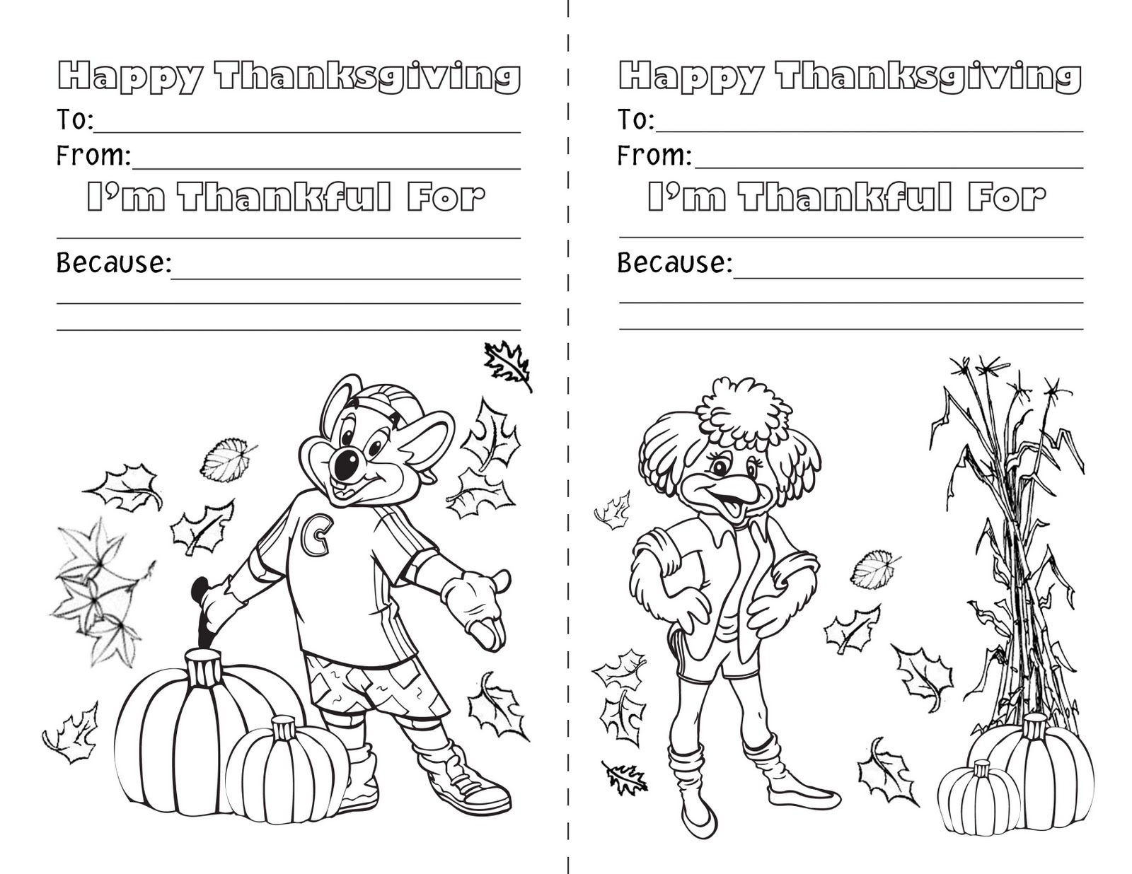 Free Thank You Cards From Chuck E Cheese