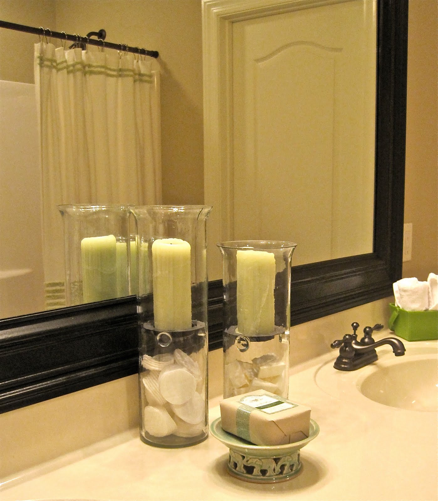 Frame Your Bathroom Mirror: Bathroom Mirror Frame Tutorial