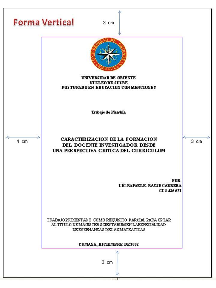 PAUTAS PARA LA PRESENTACIÓN DE INFORMES Y PROYECTOS DE INVESTIGACIÓN