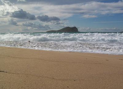 View from the (Ibiza) Villa: Ibiza Winter: Cala Conta