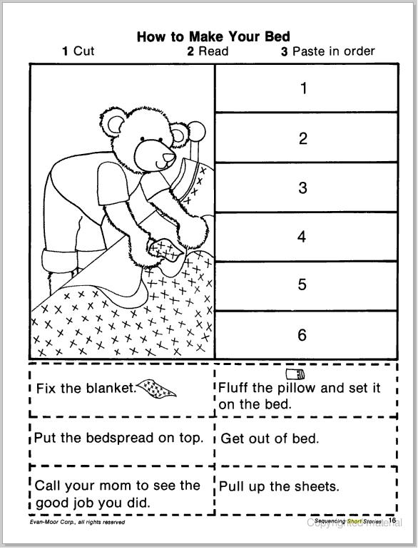 Sentence Sequencing Worksheets : Short story sequencing cut paste learningenglish esl