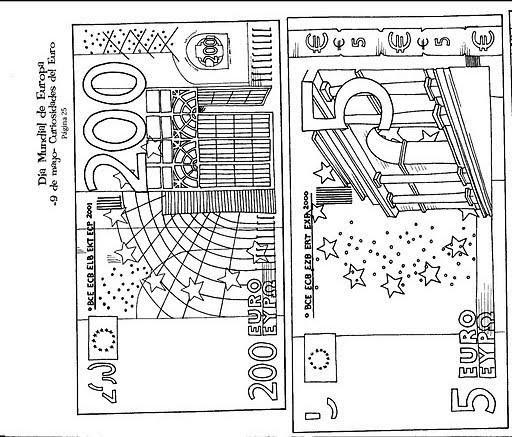 Dieren Plaatjes Zwart Wit Kleurplat Kleurplaat Geldbriefjes Kleurplaat Geldbriefjes Rekenen