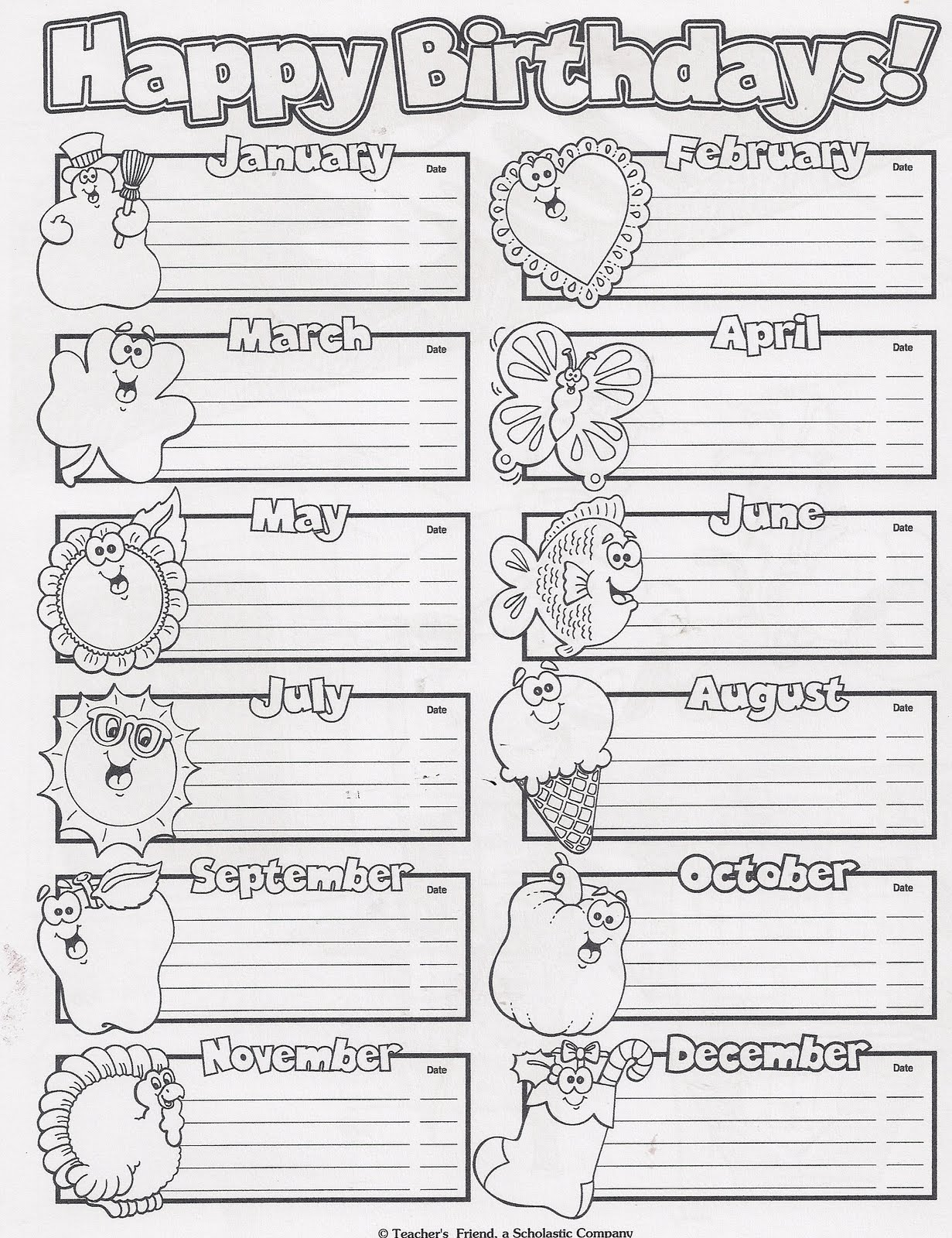birthday chart learningenglish esl. Black Bedroom Furniture Sets. Home Design Ideas