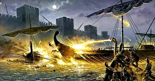 Ο Λέων Γ' Ίσαυρος και το υπερόπλο του βυζαντινού στρατού: Το υγρό πυρ