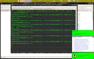python, gtk etc : cross platform popup notifications in gtk