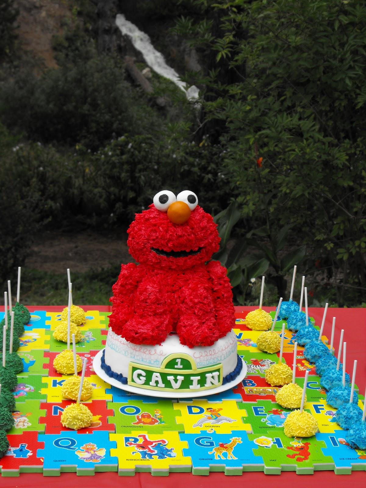 Elmo Birthday Cake And Sweets