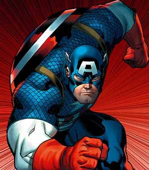 Captain America, the greatest superhero from Marvel comics.