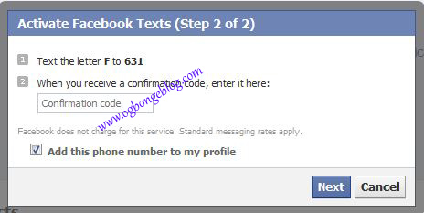How To Activate Facebook Text Messages: Update FB With Text