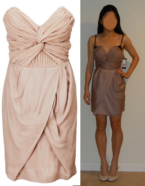 """LOLElle : Draped Front Dress from the H&M """"By Night"""" Capsule Collection"""