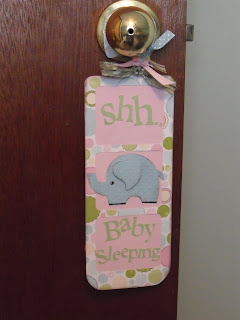 Our Inspiration Station Shh Baby Sleeping Door Hanger