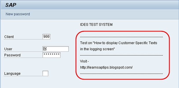 Learn SAP Tips: How to display Customer Specific Text in the