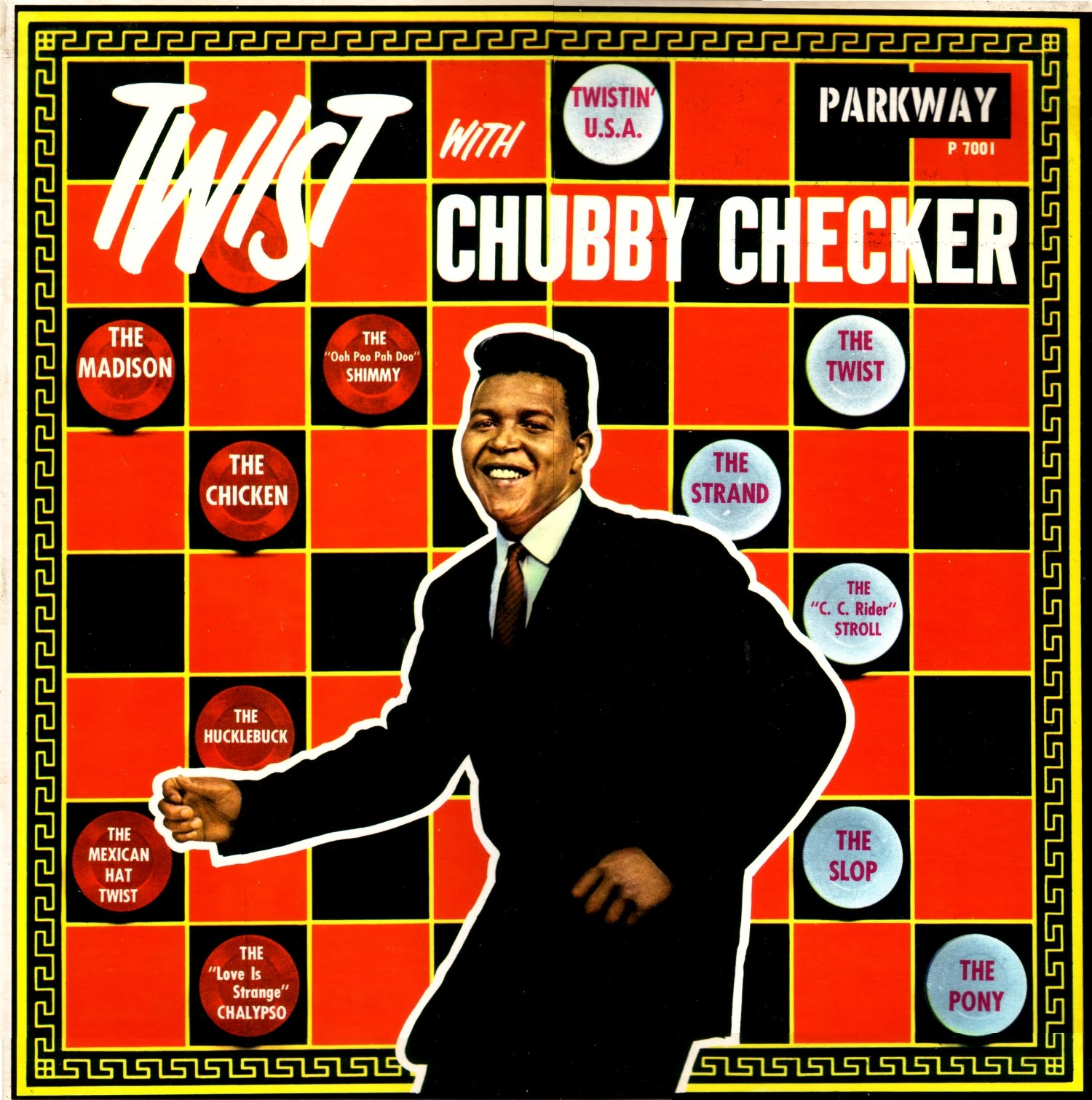 Image result for chubby checker performed the twist for the first time on american bandstand