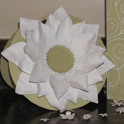 Mel Stampz White Lotus Card Wet Wrinked Cardstock This 1s 4 U Shea