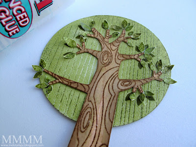 Tree Trunk Template Printable Step 5) adhere the tree trunk