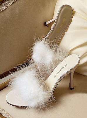 Couture Carrie Feathered Footwear