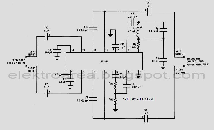 Rangkaian Peredam Noise Audio Dnr System Koleksi Skema
