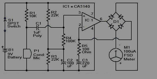 current amplifier using ca3140 op amp