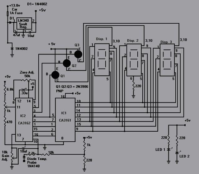 digital temperature controller circuit diagram ready remote 24927 wiring rangkaian pengukur suhu air  koleksi skema rangkaian artikel elektronika