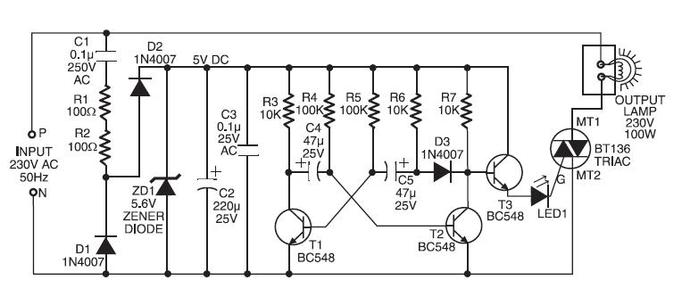 led at 220v circuit