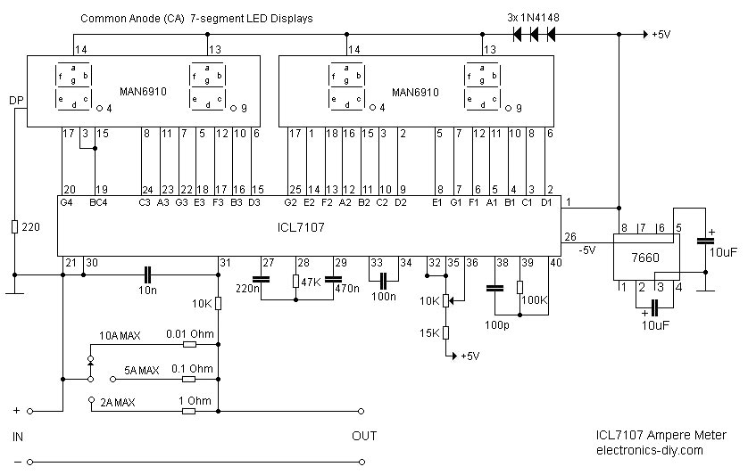 Volmetro e amperometro led display • Il Forum di ElectroYou