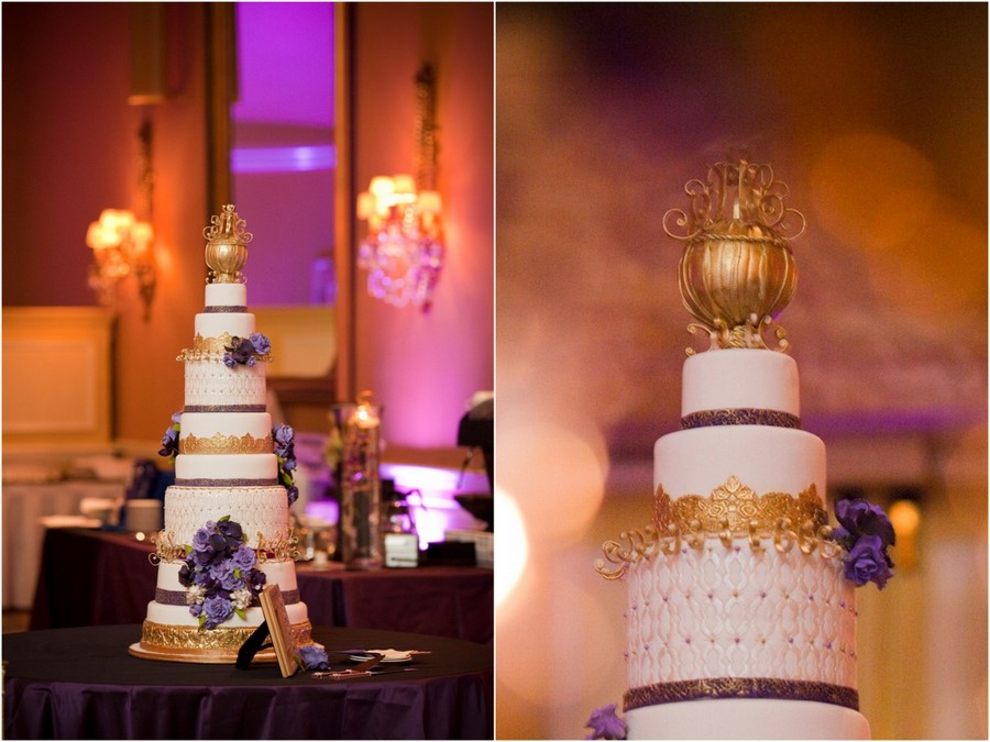 royal purple and gold wedding cake just say yes events december 2010 19409