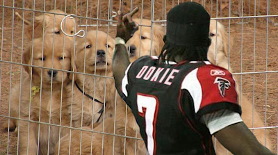 Michael Vick puppy joke photo