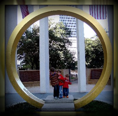 Ring of Thanks is 14 feet tall and the perfect place for a family photo