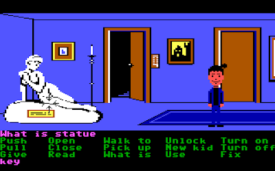 Maniac Mansion Screen