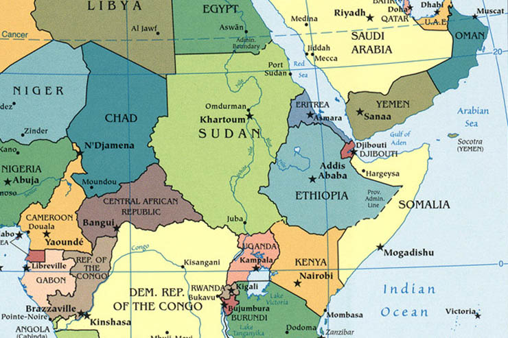 Africa Capitals,africa Map