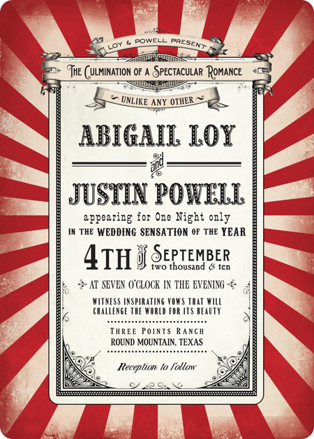 Vintage Circus Invitations 102