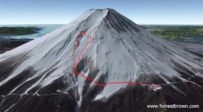 Forrest Brown Japan  Climbing Mount Fuji