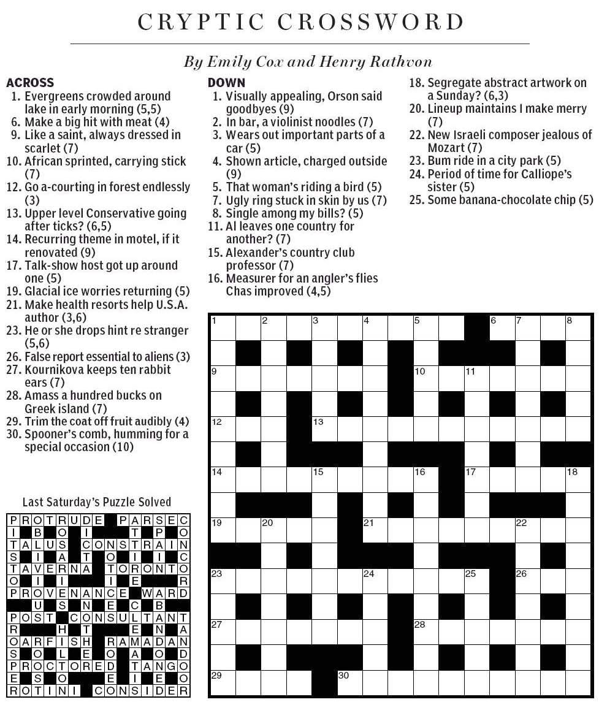 risky crossword clue