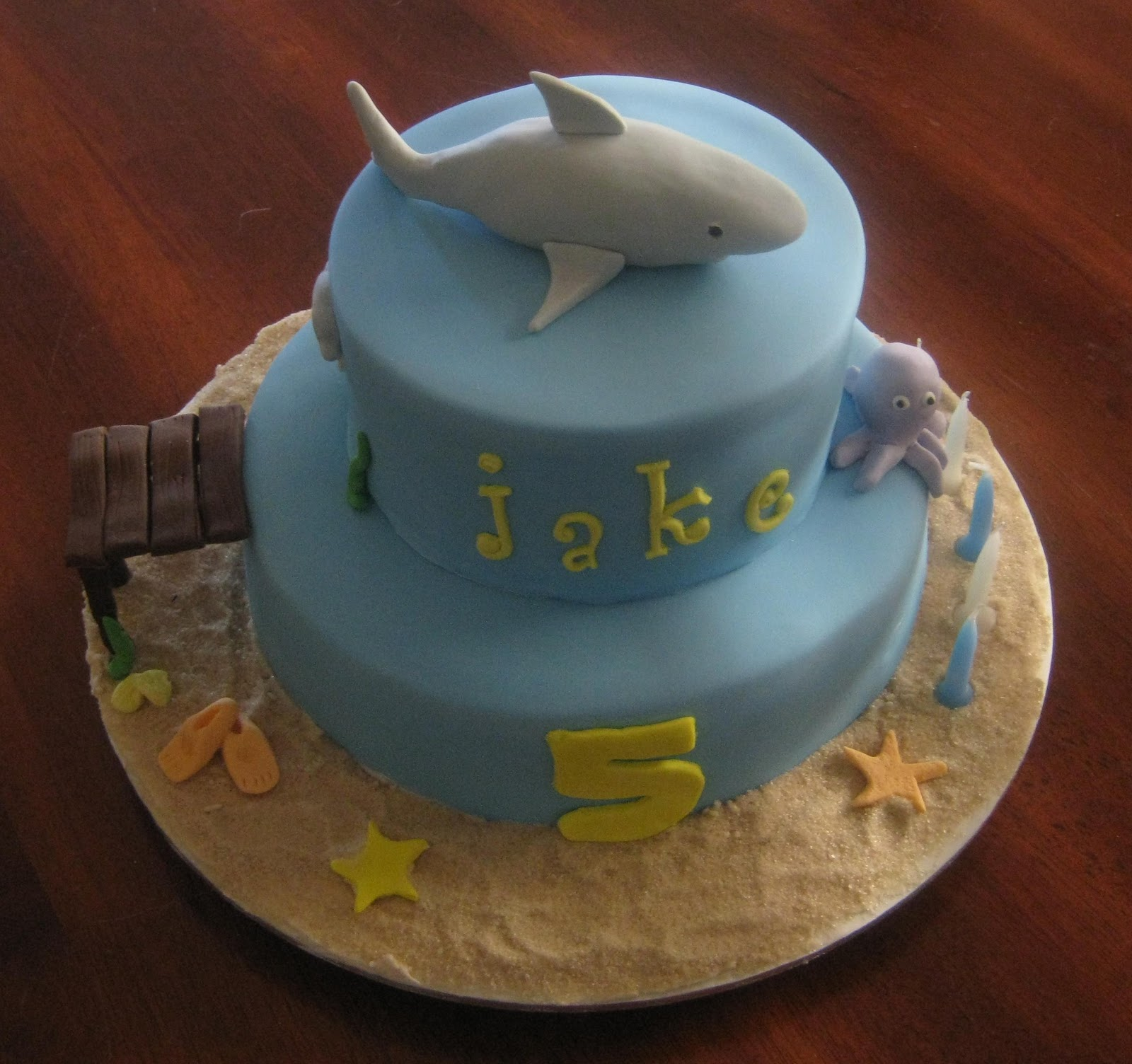 Shark Birthday Cake Decorations